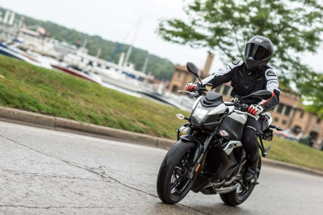 Rain meant any real testing of the 1190SX's limits would have to wait for another time. However, the upright seating position compared to the RX is a welcome feature during any street ride.