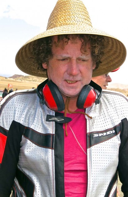 While the winds at Willow usually preclude sun hats, Jeff's afro is sufficient to keep one in place.