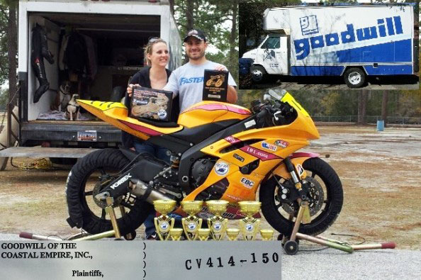 Woodworth in happier times, surrounded by his girlfriend, Yamaha R6, and numerous trophies.