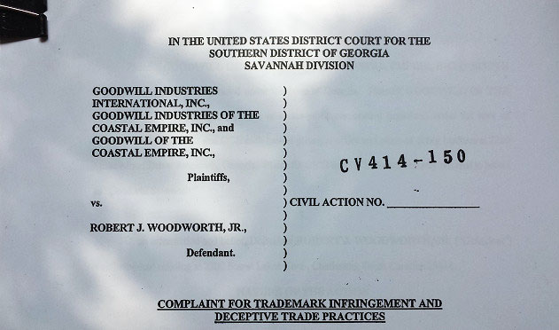 Goodwill wasn't amused that one of its former trucks was being driven to racetracks around the East Coast with its logos still in place. So much so, it is now suing Woodworth. The company even went so far as to hire a private investigator to spy on him.