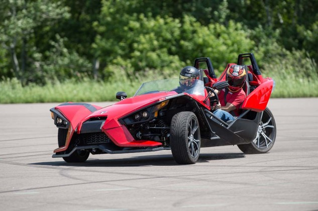 At least the Spyder had handlebars. The Polaris Slingshot, while fun, has a steering wheel!