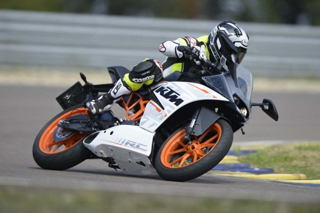 The RC390 can teach everything there is to be learned about riding quickly on a racetrack, without the intimidation factor and higher costs of more powerful machines.