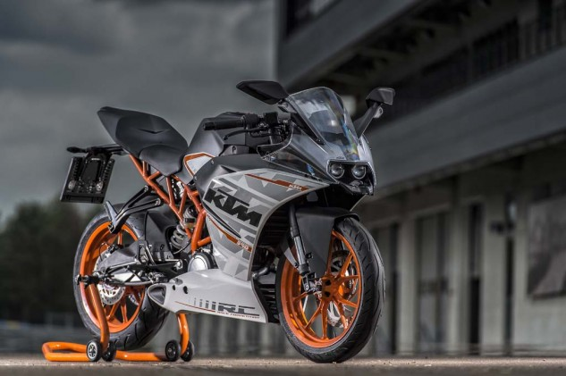 The RC390s stylish appearance looks exotically appealing for a motorcycle expected to be priced less than $7,000.
