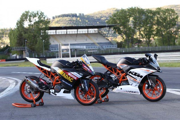 A full field of identically prepped RC390 racebikes would make a terrific training ground for budding racers while keeping a rein on costs.