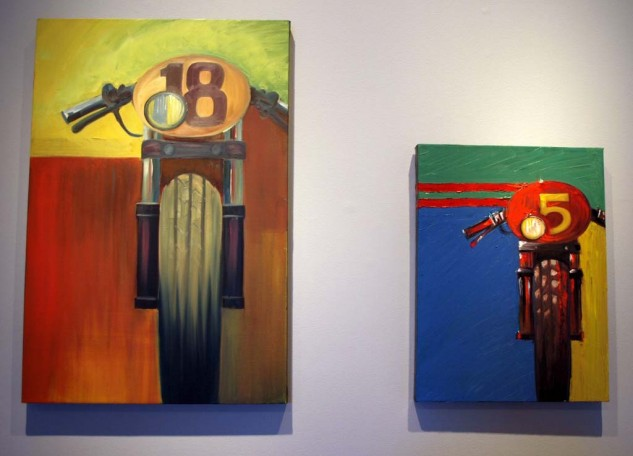 Café Racer Dream bike paintings by famed designer Troy Lee
