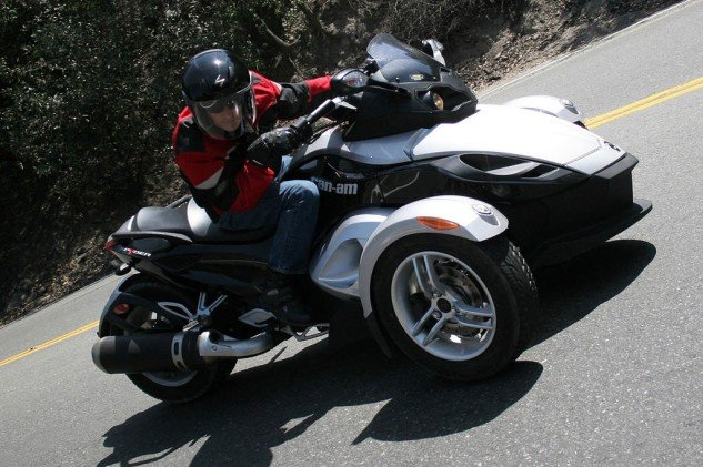 The handling dynamics of the Spyder have more in common with snowmobiles than motorcycles. Just because the feds classify this as a motorcycle doesn't mean I have to!