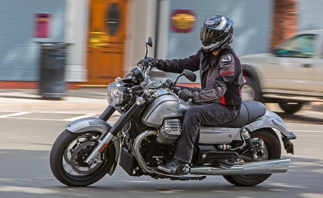 """The California Custom was the surprise of this shootout for me. It packs in some neat features that aren't necessarily standard cruiser fare, such as three riding modes, cruise control and ABS. Overall, its smooth performance matches its persona."" – Scott Rousseau"