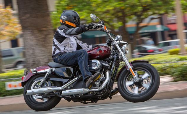 """""""The Sporty may not have won this shootout, but I don't begrudge anyone who decided to lay down their money at a Harley dealership. It's perhaps the best urban-use bike of the group."""" – Kevin Duke"""