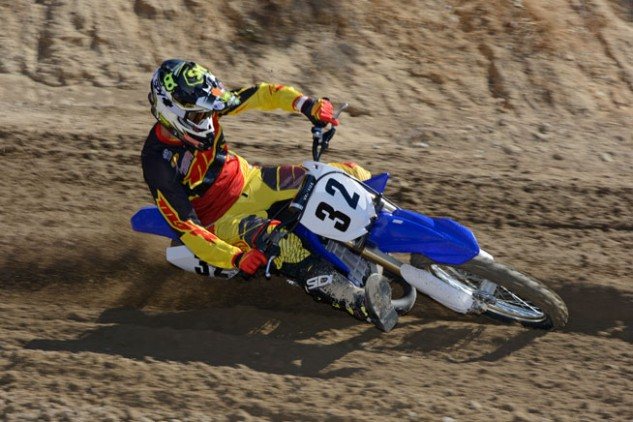 2015 YZ125 Action Cornering