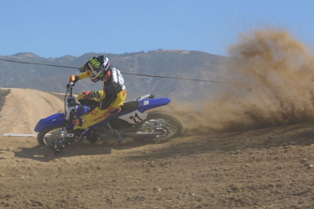 2015 Yamaha YZ250 Action Cornering