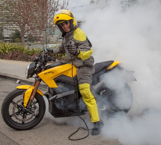 Electric Motorcycle Burnout
