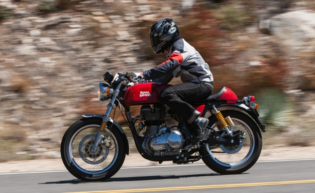 The Thumper sound and cafe styling are undoubtedly the coolest aspects of the Royal Enfield Continental GT.