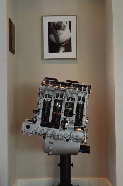 Not many people have engines of their own design as the centerpiece of a room.