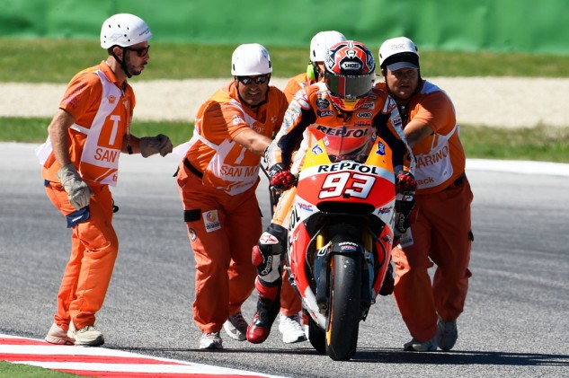 Marc Marquez needs to regain the consistency he had earlier in the season and not avoid repeating the mistakes of San Marino and Aragon.