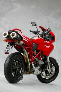 Uh-oh, this one's been made over by the Ducati Performance catalog, looks like