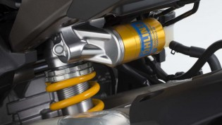 The Ohlins Electronic Racing Suspension has three manual modes where a rider can fine tune the settings
