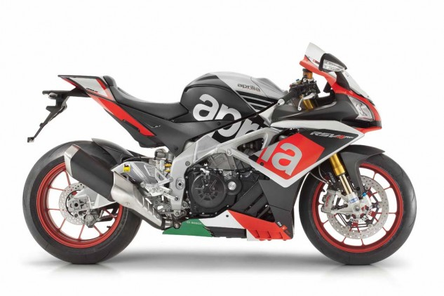 "Aprilia is offering a limited-edition run of 500 units called the RSV4 RF, recognizable by its ""Superpole"" color scheme."