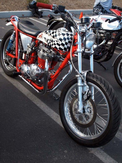 Winner of Best British Custom Category, Ed Cornell's 1965 Street Tracker.