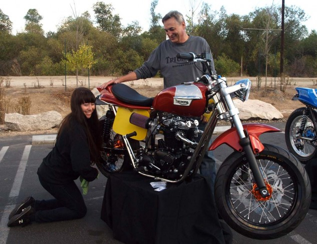 Callichio and Triumph Classic Motorcycles also build awesome Triumphs powered by engines.