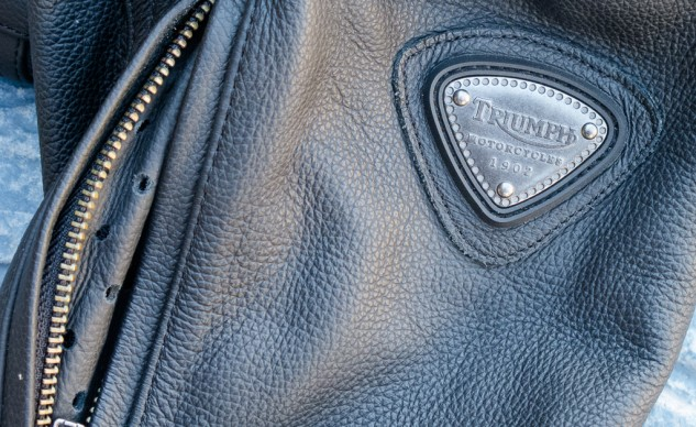 While most OEM-branded motorcycle gear has the company's logos emblazoned across the larger panels, the Triumph leaves the logos to the snaps and these tasteful medallions on the sleeves. Folks who don't own Triumphs or own more than one brand bike can happily use this jacket without feeling too conspicuous.