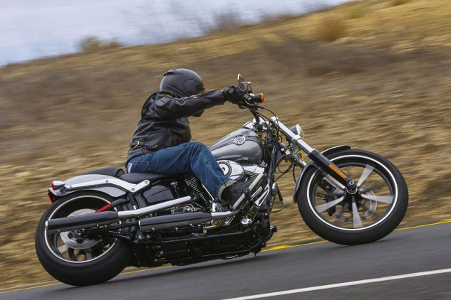 All the Softails get a new front brake for 2015 that works very well. ABS is standard on the Breakout.