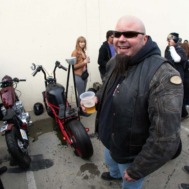 Dave Jenks and his '98 CBR600 F3. The rear still has a little life left.