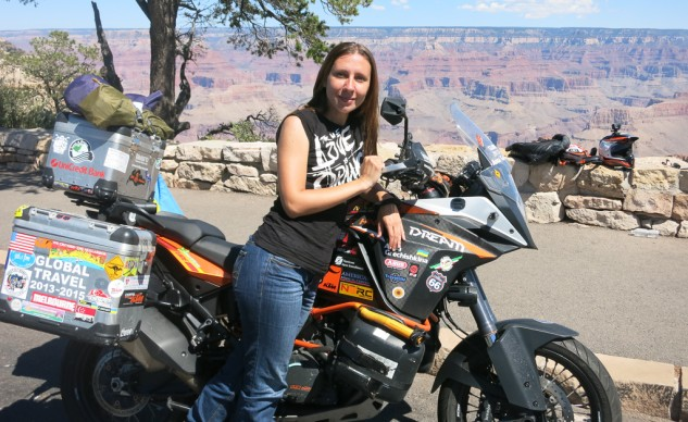 Anna on the rim of the Grand Canyon
