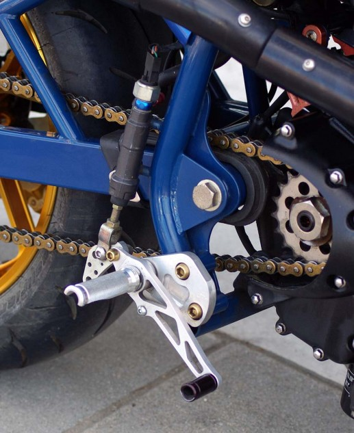 Mirage RT rearsets are available from SBT's parts list.