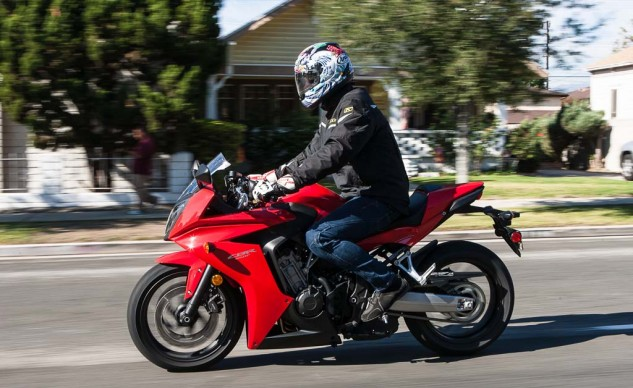 The forward tilt of the Honda's rider is plain to see, though the increased legroom might be less noticeable.
