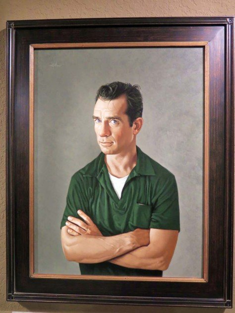 """Bob's motto for his gallery is this William Morris quote: """"If you want a golden rule that will fit everything, this is it: Have nothing in your home that you do not know to be useful or believe to be beautiful."""" The guy in the frame is Jack Kerouac."""