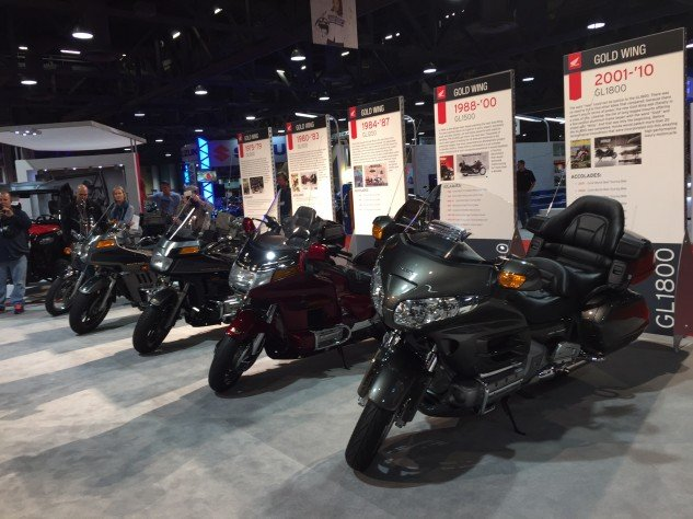 Each generation of Honda Gold Wing, representing 40 years of Wing'n it.