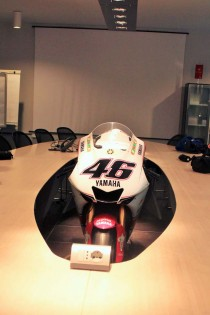 To fans of motorcycle roadracing, this has to be the coolest boardroom in the world.