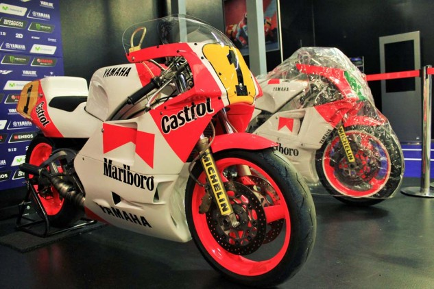 YMR also houses a few vintage racing machines, including this OW81 YZR500 that Eddie Lawson rode to the 500cc Grand Prix title 1986, his second of three with Yamaha.