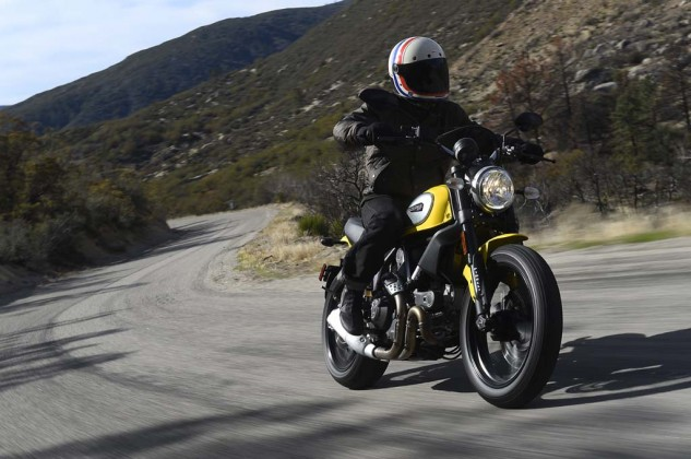 Exploring the road less traveled. The Scrambler likes asphalt like this.