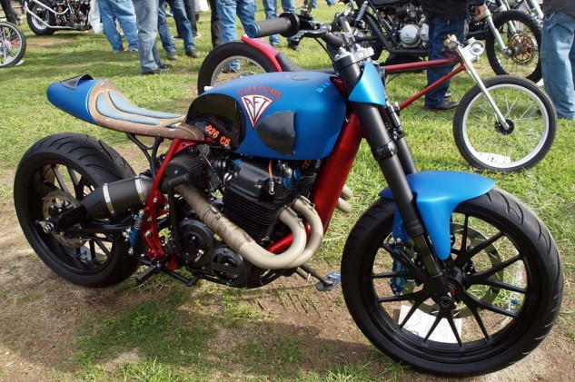 "Best Café Racer: Jim Giuffra of AFT Customs built this' ""Cimeron"" Honda that won the Best Metric category."