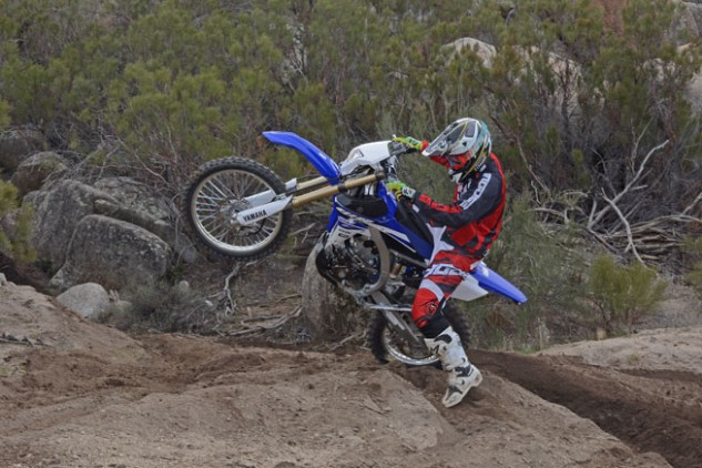 Slim ergos and a nimble feel allow the Yamaha to be chucked around in tight spots as needed.