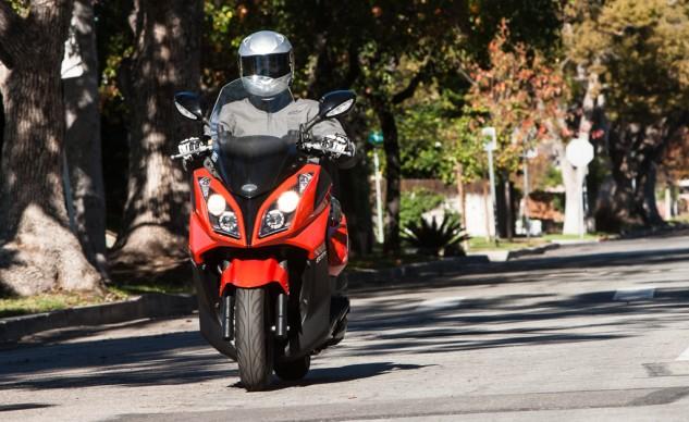 If practicality and fuel efficiency are your top concerns when it comes to two-wheel motoring, and assuming you aren't very tall, the Kymco Downtown 300i deserves a look.