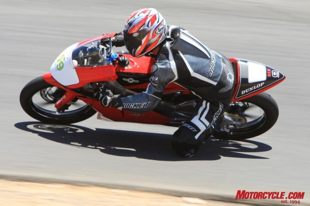 The Moriwaki MD250H was just one of the variety of bikes I've ridden at the Streets of Willow.