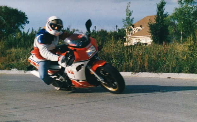 Dragging a knee on a racetrack is relatively easy. Trying to drag a knee on the street - in jeans - is stupid.
