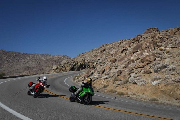 Here's one from our Middleweight Sport-Touring comparison back in July.