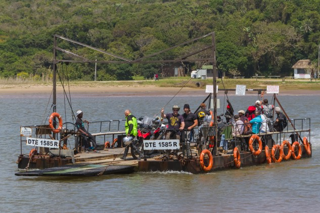 The ferry across the Groot Kei River.
