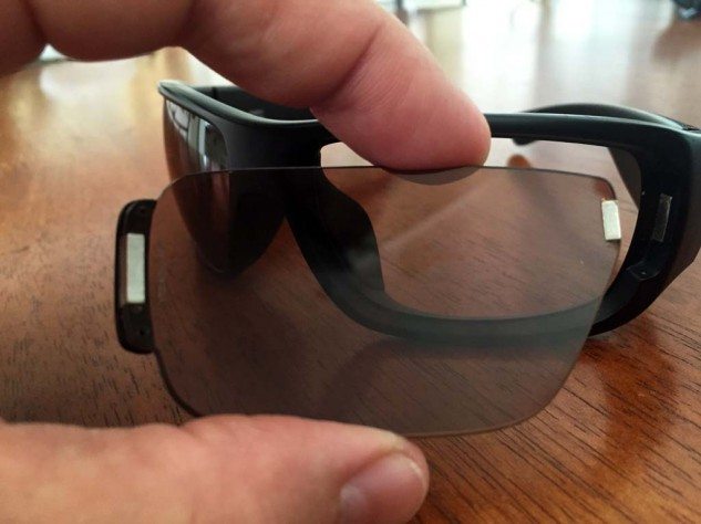 Switch lenses snap into place by way of high-energy magnets on either end of each lens. To remove, simply push on the inside left of the lens and it comes right out.