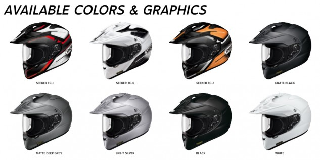The Hornet X2 is available in four shell sizes incorporating XS-XXL. Pricing is: $595 for solids, $604 for metallic colors and $716 for graphics.