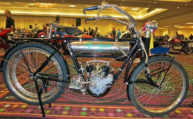 Even though Peugeot gave up motorcycles for cars long ago, their products still draw attention from collectors. This 1911 Moto Legere 350 Twin sold for $26,450.