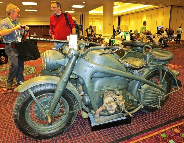 For something completely different in the sidehack realm, the 1942 Zundapp 750 military rig was projected in the $45K range but didn't get there.