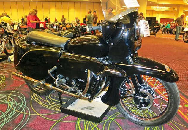 This 1954 Vincent Black Prince prototype fell short of its projected $250,000 range. Another one sold for $79,350.