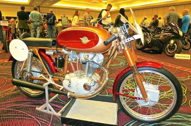 On the other hand, early Ducati production racers continue to ascend in the hen's teeth category. The 1959 175cc F3, which once resided in the Guy Webster collection, was sold by a more recent owner for $89,700.