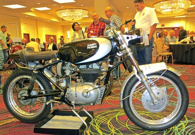This 1964 Parilla 250 Grand Sport was shy of concours standards, but went to a new home for $7,475. Small-bore Italian bikes have grown in popularity and price, which as ever depends on condition and availability.