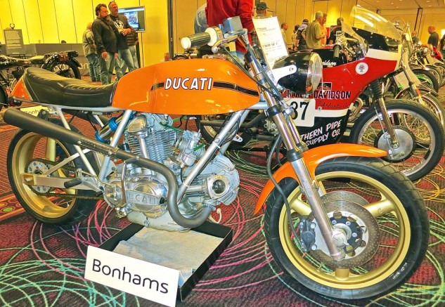 Listed as a 1974 Ducati 750 GT Cafe Special (i.e. bitsa), this mix-and-match of various components and a mono-shock swingarm, was likely to provide its new owner a fun ride. It sold for $16,100.