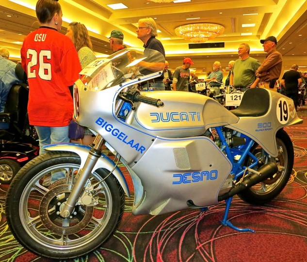 Ducatis of every generation were represented in Vegas. This 1979 900SS from a European Superbike team sold for $25,012.